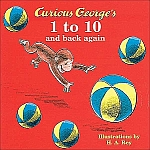 picture of Curious George's 1 to 10 and Back Again