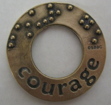 picture of Affirmation Charm Bronze: Courage