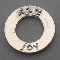 picture of Affirmation Charm Silver: Joy