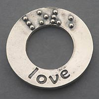 picture of Affirmation Charm Silver: Love