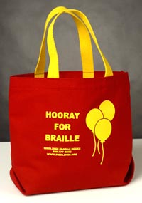picture of Small Tote: Hooray for Braille
