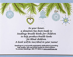 Picture of Seedlings Holiday Tribute Card